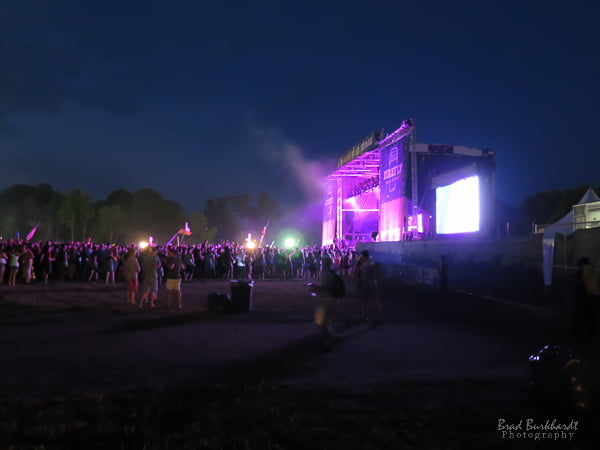 Firefly Music Festival 2015 at night