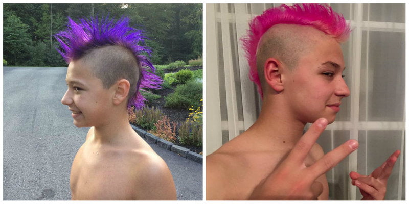 Merman Hair from Purple to Pink