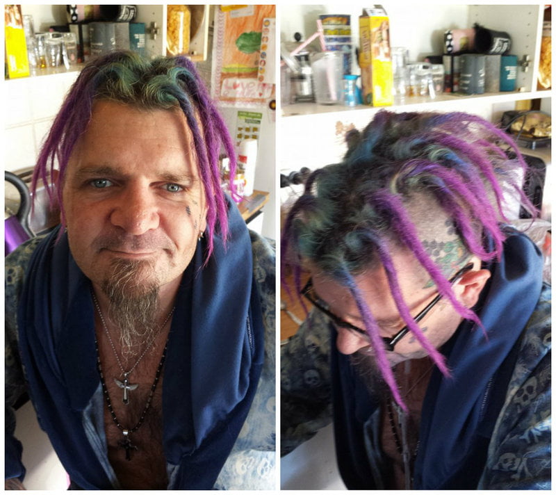 Merman Hair Purple Ombre Dreads