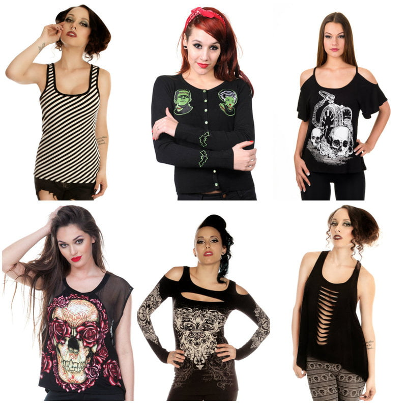 Alternative fashion tops from Kiss Me Naughty on RebelsMarket