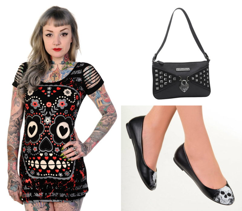 Cute skull outfit from Kiss Me Naughty on RebelsMarket