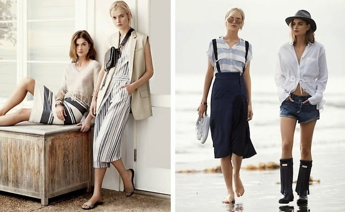 Layered Fashion with Nautical Elements