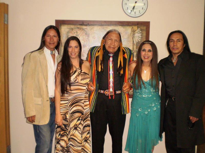 At the Red Crystal Gala with Tiger Moon, Saginaw Grant, Andrea Montoya, and Gerald-Auger
