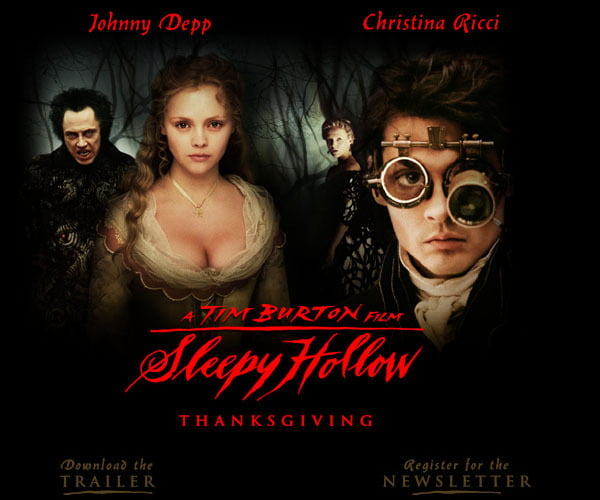 Johnny Depp combined horror and Steampunk styles in Sleepy Hollow