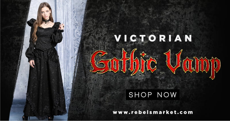 Victorian Gothic Vampire Fashion on RebelsMarket
