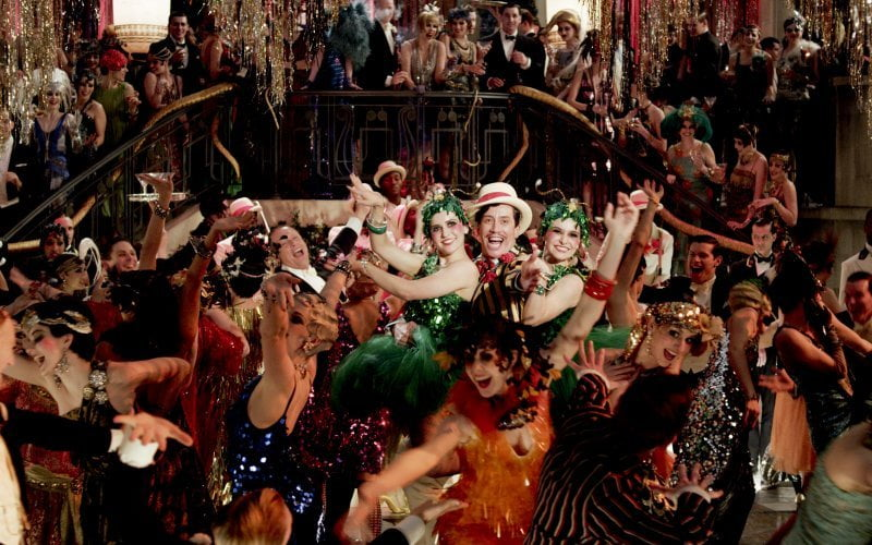 The big party scene from The Great Gatsby