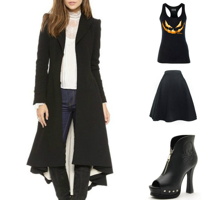 Layer seasonal Halloween pieces with office ready staples.