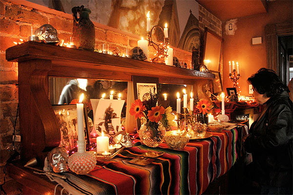 Altar for Dia de los Muertos, Day of the Dead
