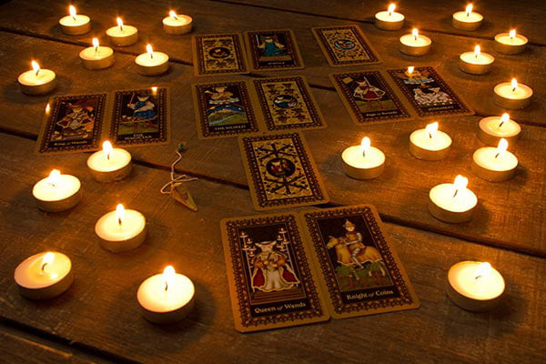 Tarot cards are used as a divination tool
