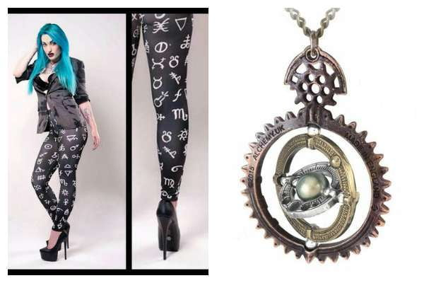 Alchemy Symbol Leggings and Alchemy Jewelry are both very striking.