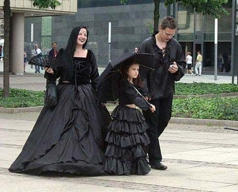 Gothic clothing is available for all ages!