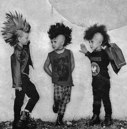 Goth and Punk are styles some kids will gravitate towards