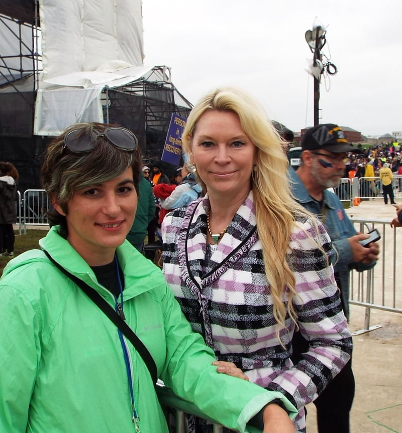 Jackie Siegel (aka The Queen of Versailles) attended in memory of her daughter Victoria, who lost her life to drug addiction