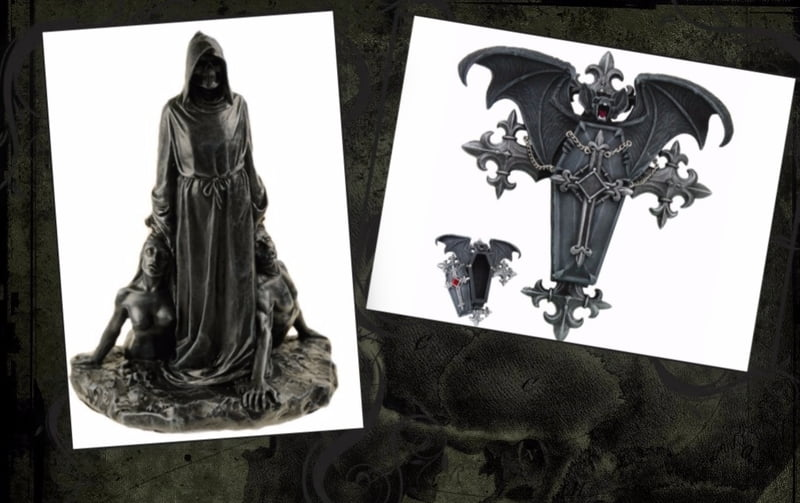 Gothic mirrors and gothic trinket boxes also make good goth gifts.