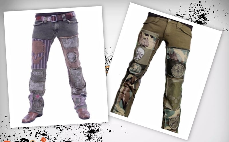 DIY frankenpants are unique, one of a kind pants.