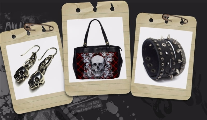 Buy punk purses, punk earrings, and punk bracelets at RebelsMarket.com!