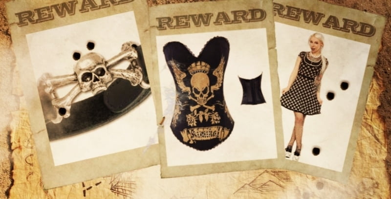 Buy skull and crossbones clothing at RebelsMarket!