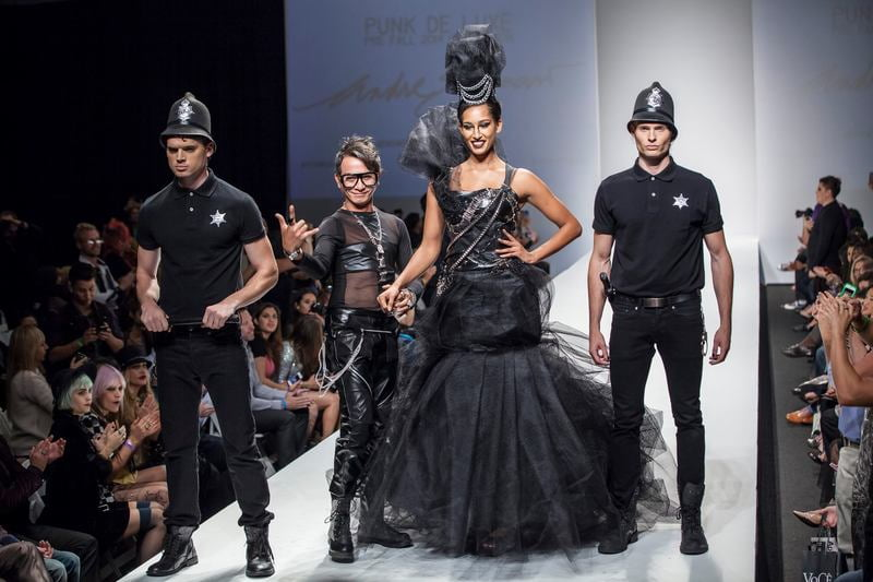 The punk and gothic looks by Andre Soriano are popping up on more red carpets this season.