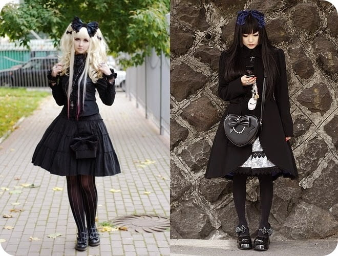 Kuro Lolita is all-black fashion.