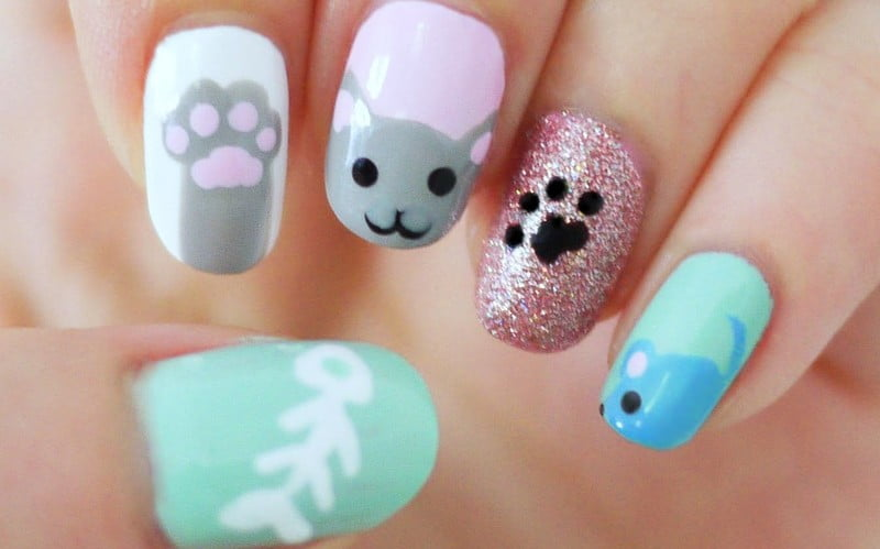 Is there anything cuter than a kitty cat manicure?