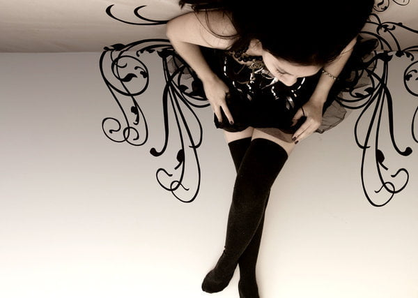 Thigh socks or stockings are almost always a part of the gothic lolita outfit- ad are a great way to add beautiful textures, like lace!