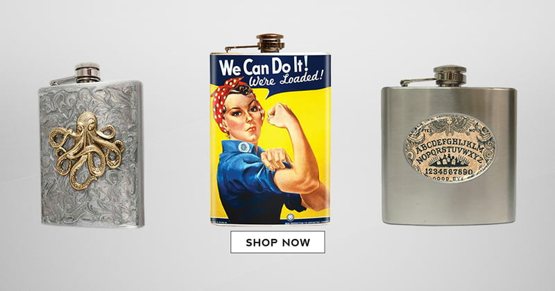 Flasks make unique gifts and are a fun option for White Elephant Gift parties.
