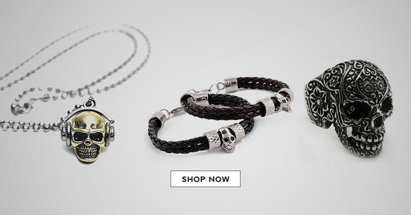 Skull jewelry always makes a statement. Find awesome pieces at RebelsMarket.