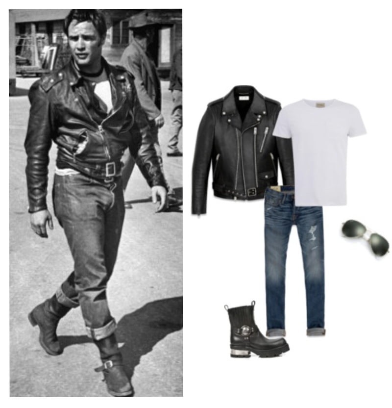 Get vintage inspiration for styling a rocker jacket!