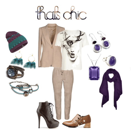 How to create a stylish outfit with amethyst and aquamarine birthstones!