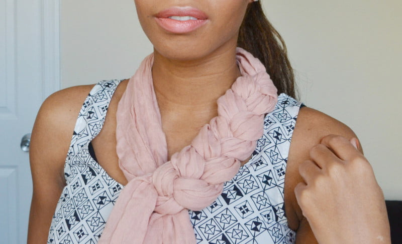 Wear a braided scarf to amp up your look!