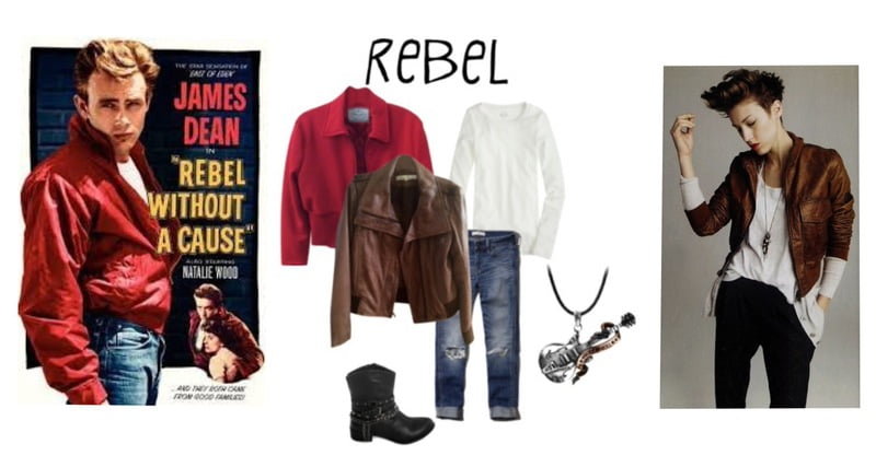 "Steal the look of Classic James Dean from ""Rebel Without a Cause."""