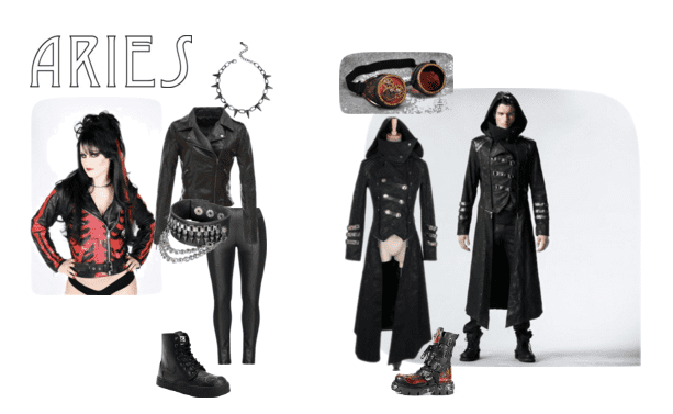 The Aries Goth should rock leather to show his or her edge!
