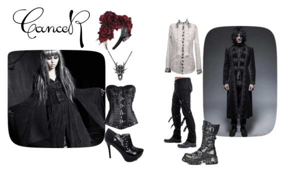 Cancer Goths embrace silver and other symbolic styles!