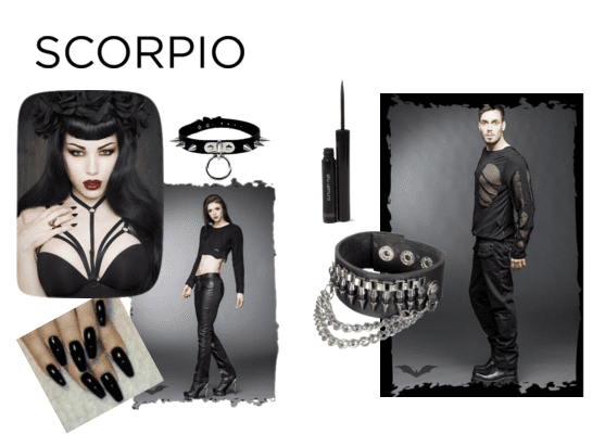 Goth fashion for the sensual and secretive Scorpio!