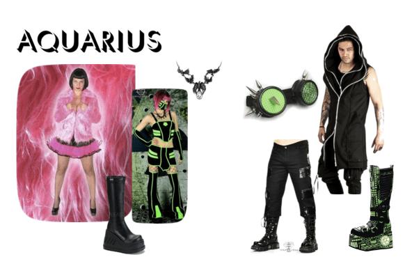 Goth fashion for the cyber-loving Aquarius!