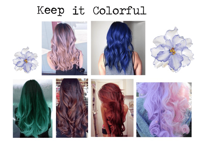 Keep your outfit colorful by wearing a colorful wig or dyeing your hair