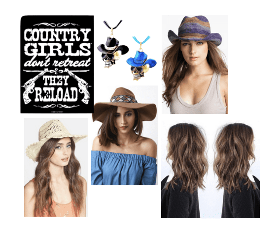 Cowboy hats and perfect tresses for a country concert!