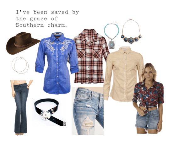 Daisy Duke style in plaid shirts and western shirts!