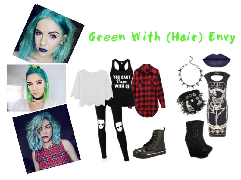 Green hair for St. Patrick's Day!