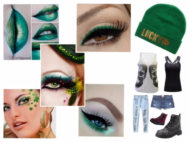 Green makeup for beautiful St. Patty's Day style!