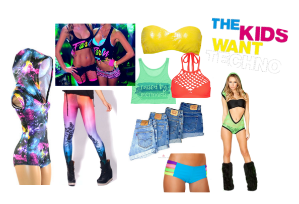 Bright sexy styles to wear at an EDM concert!