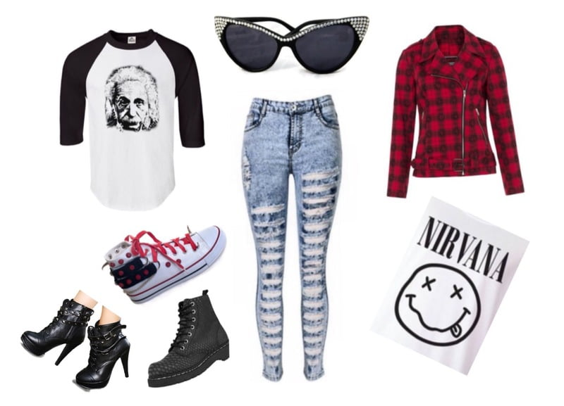 Go grunge with distressed jeans!