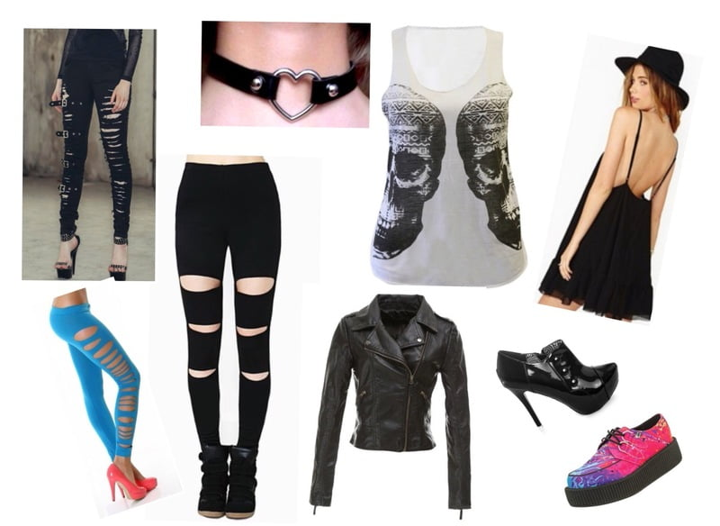Distressed leggings for a grunge-punk look!