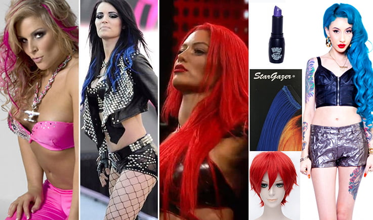Colorful Hair and Makeup is key to WWE Diva Style