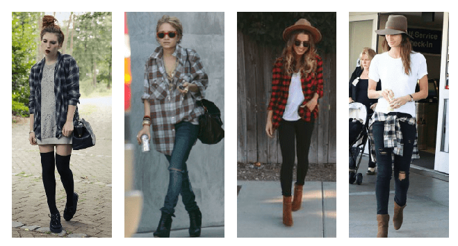 Wear a flannel over a tank or tie it around your waist.