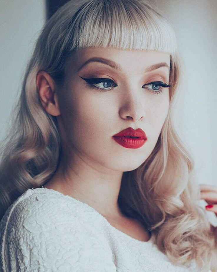 Rockabilly Style: Betty Bangs, Red Lipstick and Winged Eyeliner
