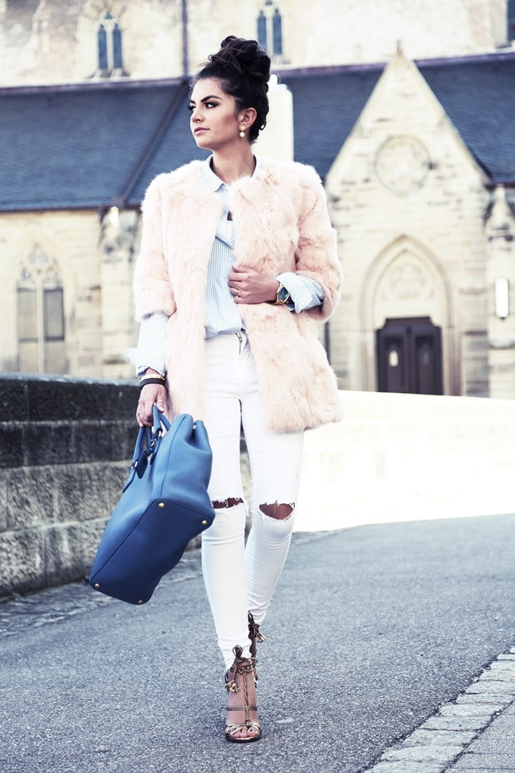 Pastel jackets can soften your alternative style