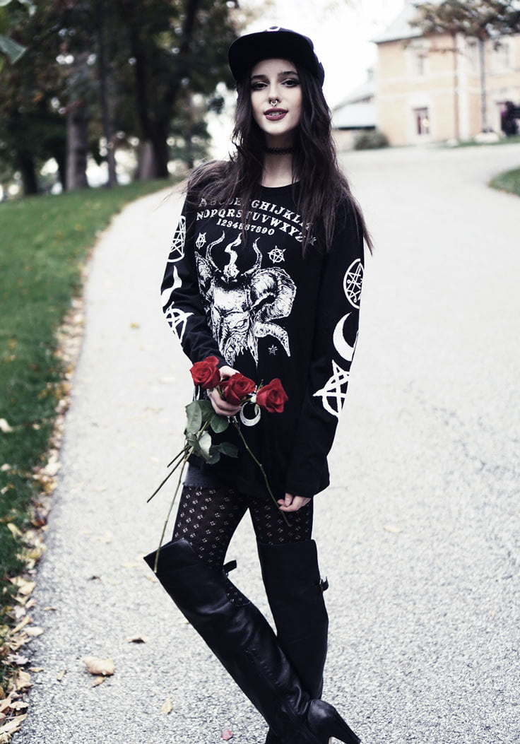 Goth Girls love to use animal imagery in their fashion choices