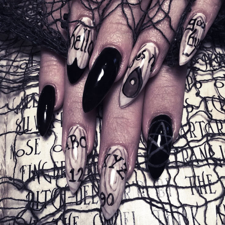 Show edgy style with nails and makeup