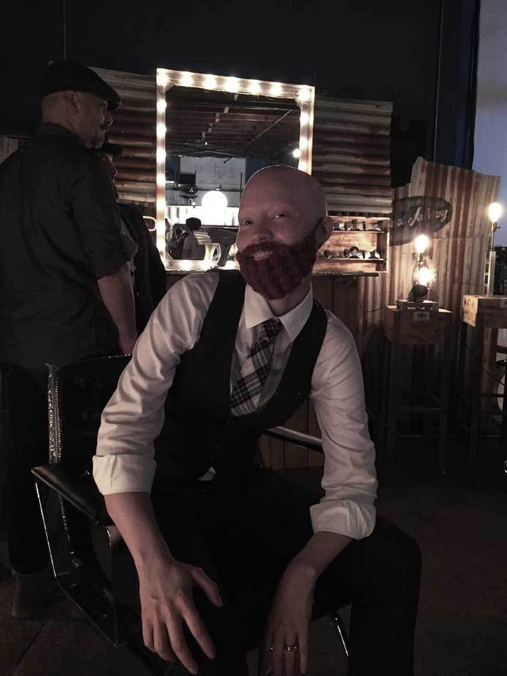 """Having fun with my bald, chemo style. Went out dressed like a man. Women were strangely attracted to me and men were strangely attracted to me and everyone was confused."""